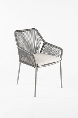 Control Brand Sunbrella Zastrov Arm Chair, Grey (FCC3604GREY)