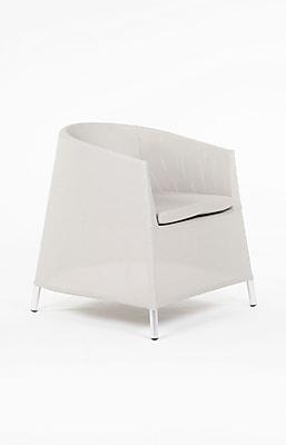 Control Brand Outdoor Sling Fabric Kos Arm Chair, Grey (FCC5538GREY)