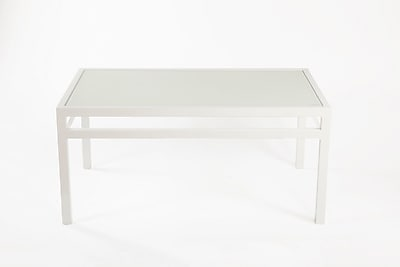 Control Brand Meppel Aluminum Coffee Table, White, Each (FCT0223WHT)