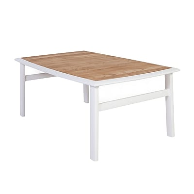 Control Brand Corfu Aluminum Coffee Table, White, Each (FCT0423TEAK)
