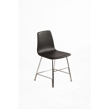 Control Brand Leather Ekero Dining Chair, Black (FEC1049BLK)