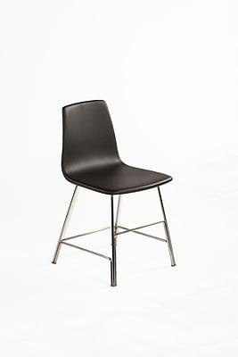 Control Brand Leather Ekero Dining Chair, Black (FEC1049BLK)