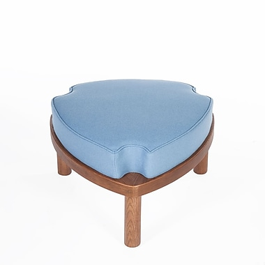Control Brand 13.8 in. Light Blue Erik Stackable/ Ottoman Foot Stool (FEC7939LBLUE)
