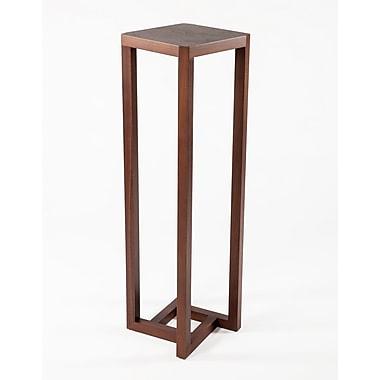 Control Brand Naka Wood/Veneer Pedestal Table, Walnut, Each (FET1041WALNUT)