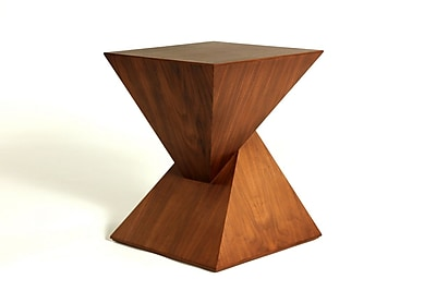 Control Brand Ystad Wood/Veneer Side Table, Walnut, Each (FET5026WALNUT)