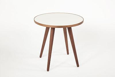 Control Brand Sputnik Wood Side Table, White, Each (FET5439AWALNUT)