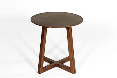 Control Brand Vaxjo Wood/Veneer Side Table, Walnut, Each (FET8116WALNUT)