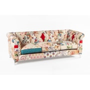 "Control Brand 86.6"" Patchwork Fabric Boho Sofa, Multicolored (FF1043PATCHF)"