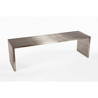 Control Brand Vimmersby 3 seater bench, Brushed Silver (FHC06BSS)