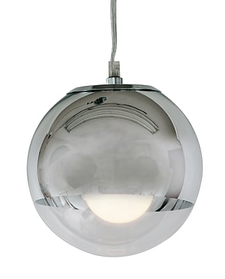 Control Brand Orb Pendant Lamp, Chrome/Clear (LS710S1)