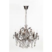Control Brand Halcyon Chandelier, Clear/Chrome (LU1284)