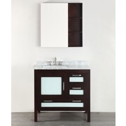 Bosconi 37'' Single Bathroom Vanity Set w/ Mirror