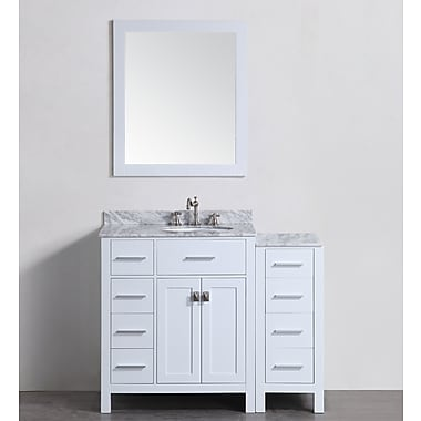 Bosconi 43'' Single Bathroom Vanity Set w/ Mirror