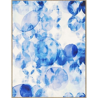 Paragon Blue Overlapping I by Lighthall Graphic Art Wrapped on Canvas