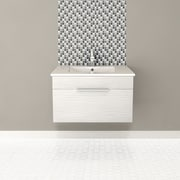 Cutler Kitchen & Bath Textures 30'' Single Floating Vanity Set; Contour White