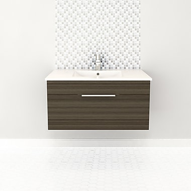 Cutler Kitchen & Bath Textures 36'' Single Floating Vanity; Springblossom