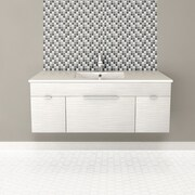 Cutler Kitchen & Bath Textures 48'' Single Floating Vanity Set; Contour White