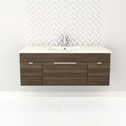 Cutler Kitchen & Bath Textures 48'' Single Floating Vanity Set; Driftwood