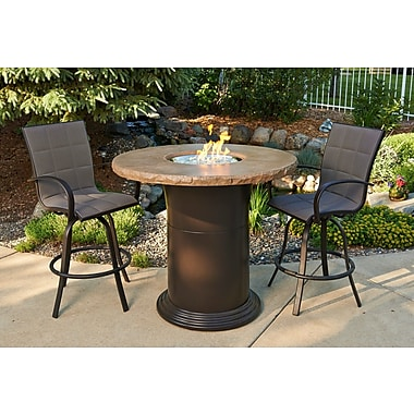 The Outdoor GreatRoom Company Colonial Fiberglass Gas Fire Pit Table