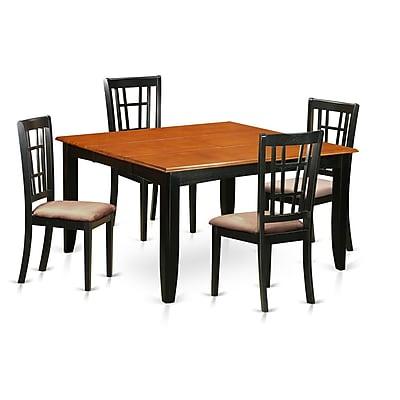 East West Parfait 5 Piece Dining Set; Microfiber
