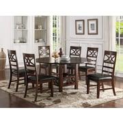 Infini Furnishings 7 Piece Dining Set; Dark Brown