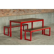Elan Furniture Loft 3 Piece Dining Set; Gloss Red