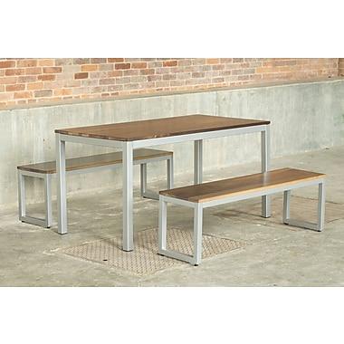 Elan Furniture Loft 3 Piece Dining Set; Gloss Silver