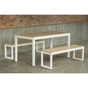 Elan Furniture Loft 3 Piece Dining Set; Textured White