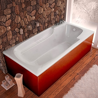 Spa Escapes Anguilla Dream Suite 71'' x 41.38'' Rectangular Air & Whirlpool Jetted Bathtub; Left