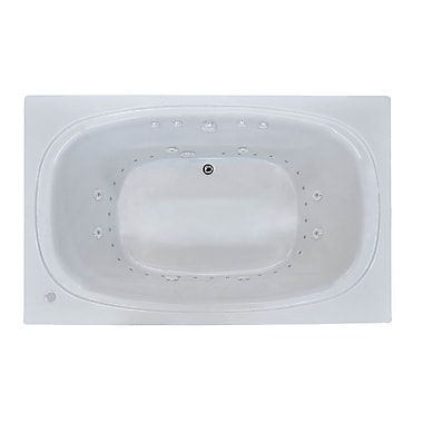Spa Escapes St. Kitts 71'' x 35.5'' Rectangular Air & Whirlpool Jetted Bathtub w/ Drain; Right