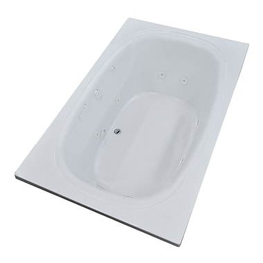 Spa Escapes St. Kitts 71'' x 41.25'' Rectangular Whirlpool Jetted Bathtub w/ Drain; Left