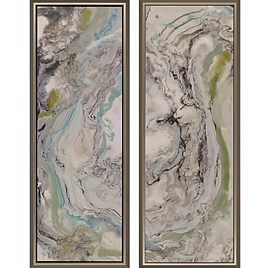 Paragon Aerial View II by Rodriquez 2 Piece Framed Painting Print Set