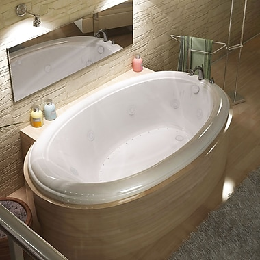 Spa Escapes Martinique Dream Suite 60'' x 36'' Oval Air & Whirlpool Jetted Bathtub; Right