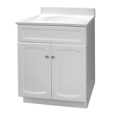 Hazelwood Home 25'' Single Bathroom Vanity Set; Premium White