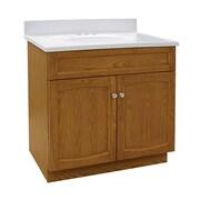 Hazelwood Home Heartland 31'' Single Bathroom Vanity Set; Genuine Oak
