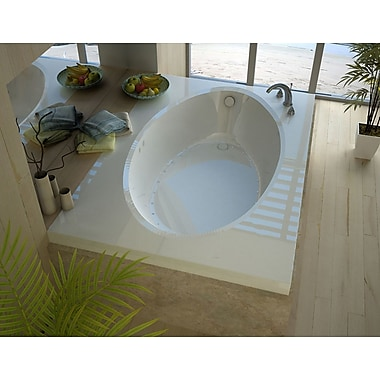 Spa Escapes Bermuda 83.38'' x 42.5'' Rectangular Air Jetted Bathtub w/ Drain; Left