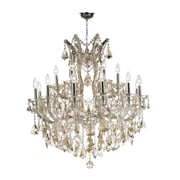 Worldwide Lighting Maria Theresa 19-Light Crystal Chandelier