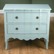AA Importing 2 Drawer Chest; Light Blue