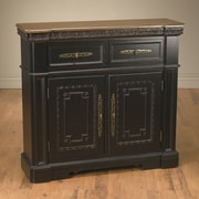 AA Importing 2 Drawer and 2 Door Cabinet; Black