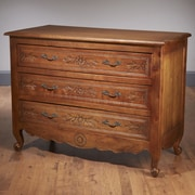 AA Importing 3 Drawer Chest; Walnut