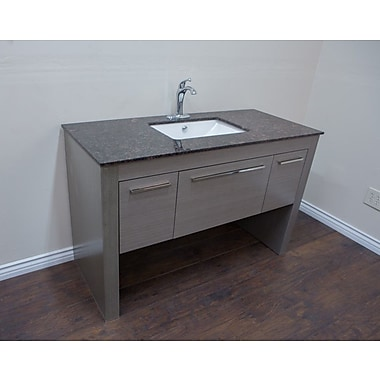 Bellaterra Home 56'' Single Sink Vanity Set; Gray/Tan Brown