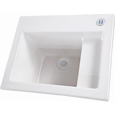 Hydro Systems 26'' x 21'' Single Designer Delicate Touch Laundry Sink; Bone