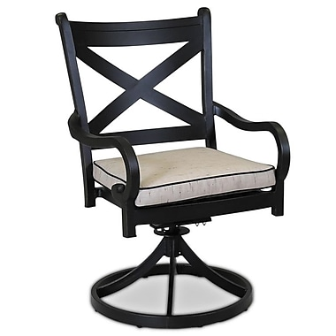 Sunset West Monterey Swivel Dining Chair w/ Cushion; Canvas Spa