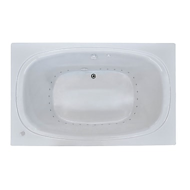 Spa Escapes St. Kitts 65.25'' x 35.63'' Rectangular Air Jetted Bathtub w/ Drain; Right