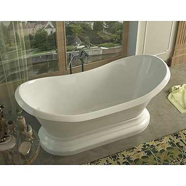 Spa Escapes Grace 70.75'' x 32.75'' Oval Freestanding Soaker Bathtub w/ Center Drain