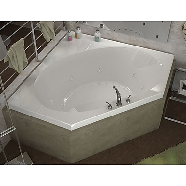 Spa Escapes St. Barts Dream Suite 63.25'' x 83.25'' Corner Air & Whirlpool Jetted Bathtub