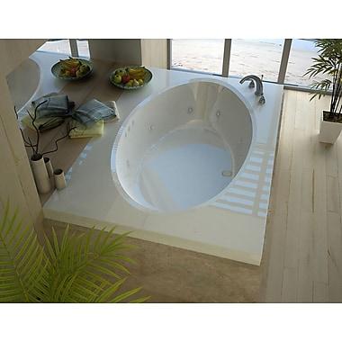Spa Escapes Bermuda 70.5'' x 41.38'' Rectangular Whirlpool Jetted Bathtub w/ Center Drain