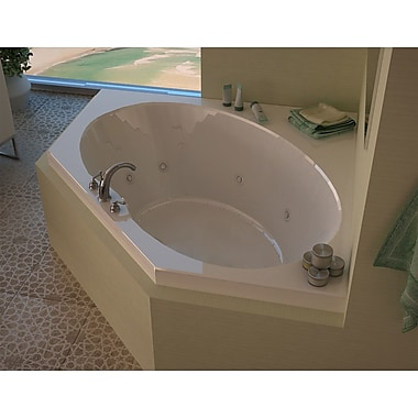 Spa Escapes Tortola 58'' x 58'' Corner Air & Whirlpool Jetted Bathtub w/ Center Drain
