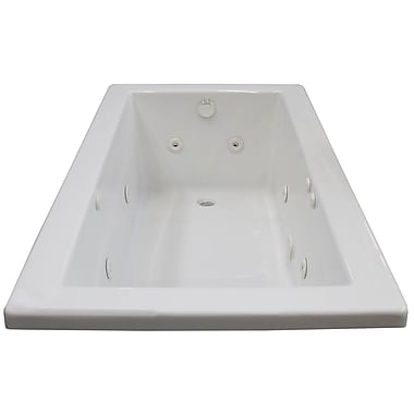Spa Escapes Guadalupe 60'' x 30'' Rectangular Whirlpool Jetted Bathtub w/ Drain; Right