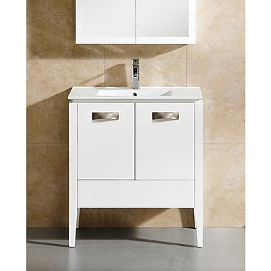 Fine Fixtures Manchester 30'' Single Vanity Set; White